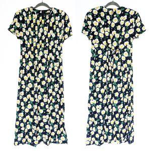 VINTAGE daisy floral cottagecore maxi dress